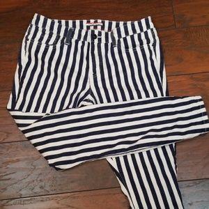 Tommy Hilfiger blue white stripe skinny Jean L109